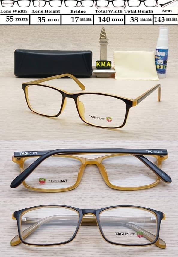 diskon 10%!! Kacamata Tagheuer Minus Kacamata Frame Minus Frame Minus Tagheuer Baru - ready stock