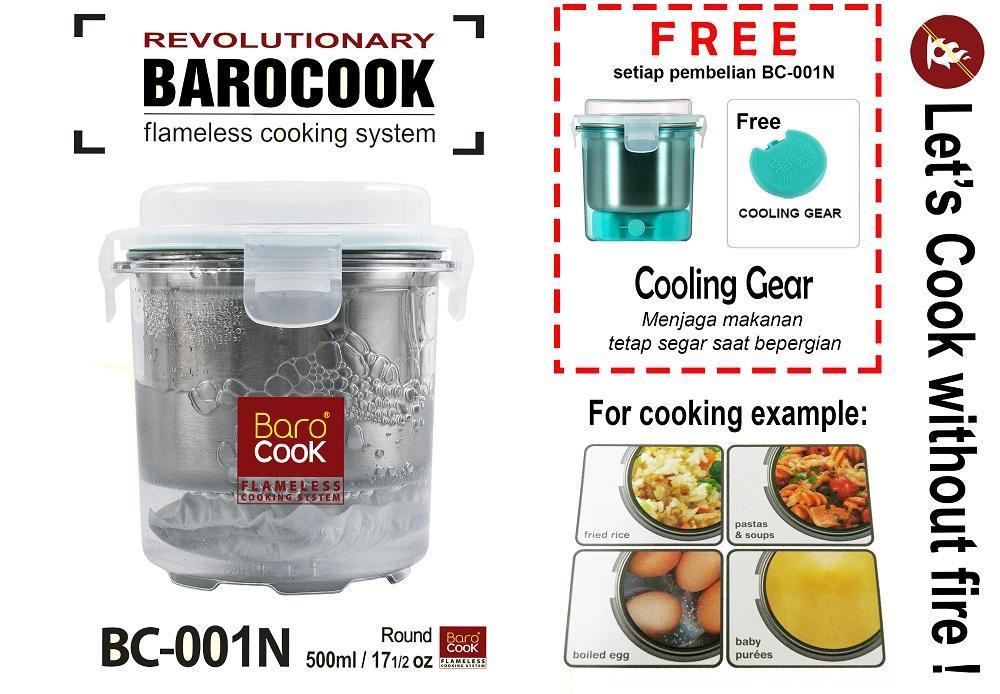 Barocook BC-001N (Penghangat makanan/bubur/sop bayi tanpa listrik/gas/api) - 500 ml