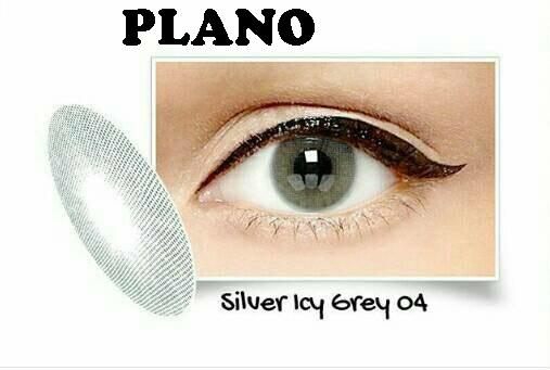 Exoticon Softlens by X2 ICE SILVER ICY GREY 04 / NO 4  - Normal Plano