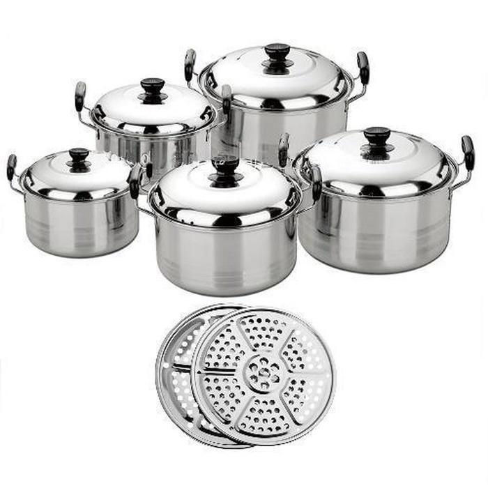 PROMO America High Pots Panci Set + Steamer ( kingko ) TERLARIS