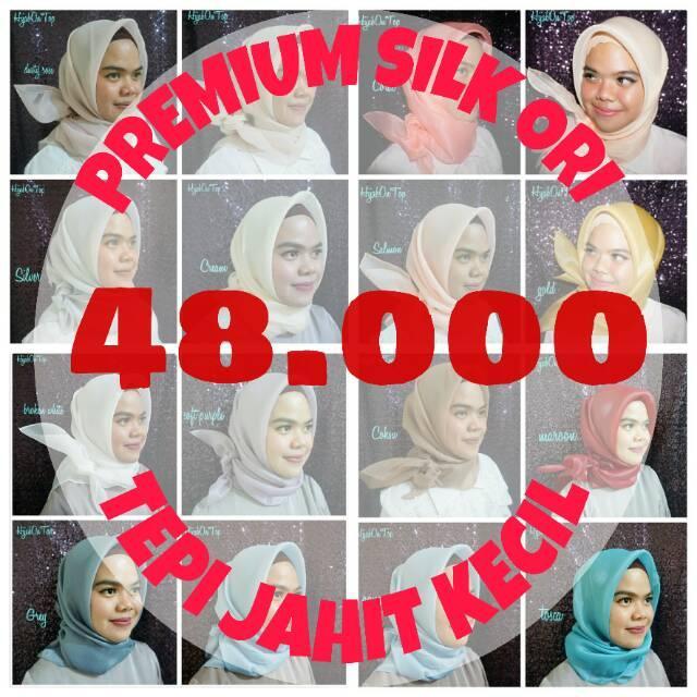 Jilbab / Hijab / Kerudung Segi empat Square Organza Organdi Silk PREMIUM MURAH!!!