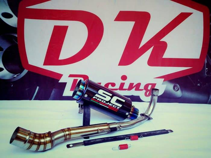 Knalpot Racing Yamaha Crypton Sc Carbon Series By Dk Racing Bekasi.