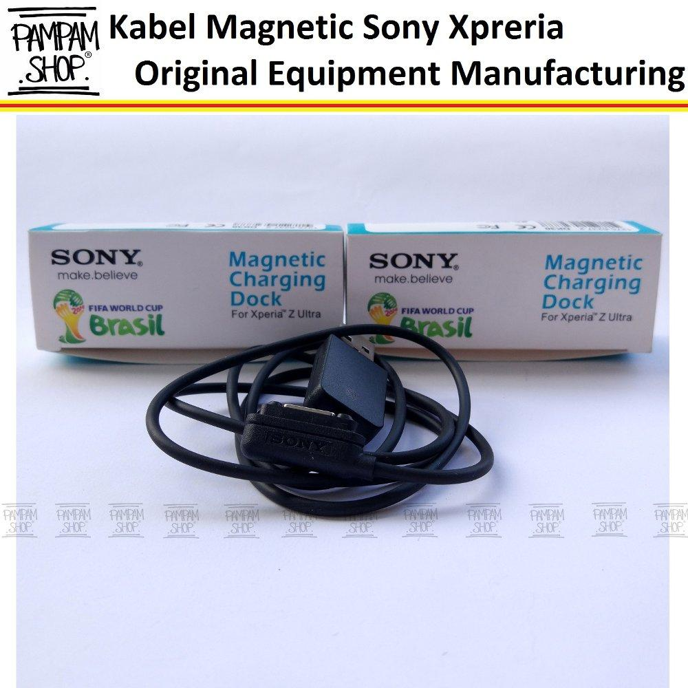 Kabel Data Charger Sony Magnetic Xperia Z Z1 Z2 Z3 Compact Ultra Original OEM 100%