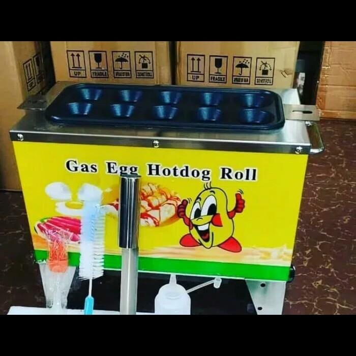 Mesin sostel/egg roll gas