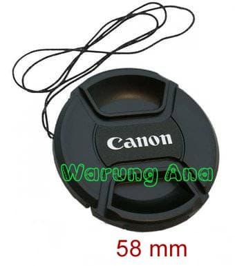 Promo Lens Cap Canon(Tutup lensa Canon) 58mm original