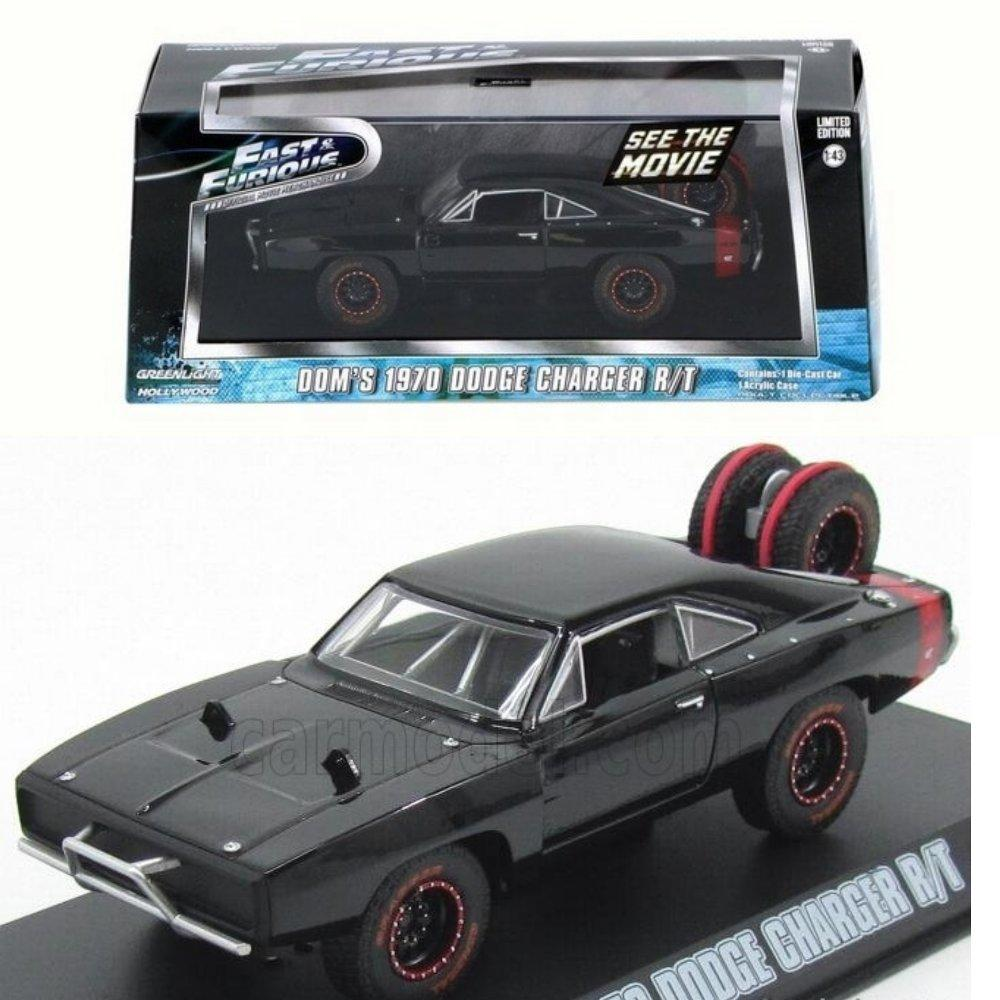 Greenlight Fast Furious Dom 1970 Dodge Charger RT  with Tire # Vovo Toys vovotoys