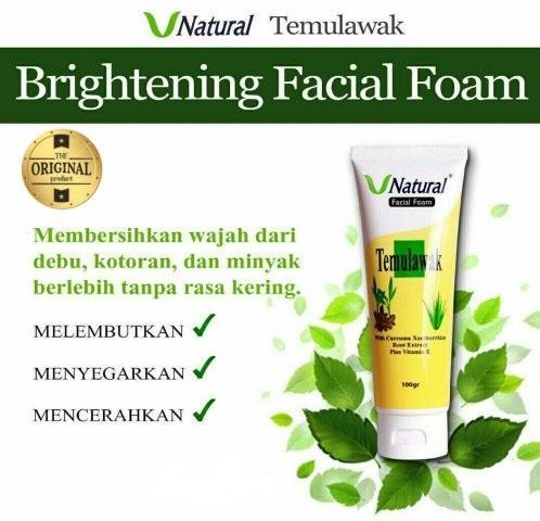 Temulawak V Natural Temulawak Cleanser / Facial Foam BPOM - 100gr