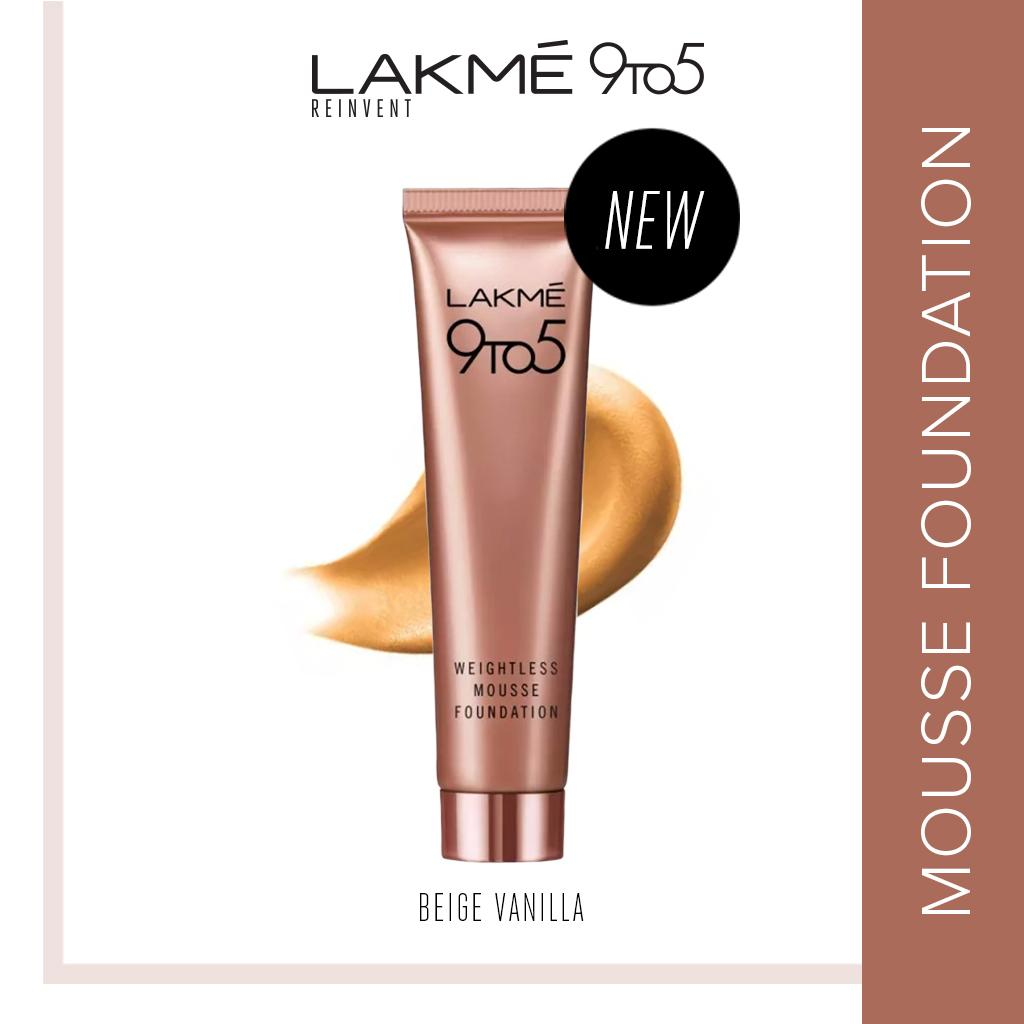 Lakme 9To5 Reinvent Weightless Mousse Foundation - Beige Vanilla