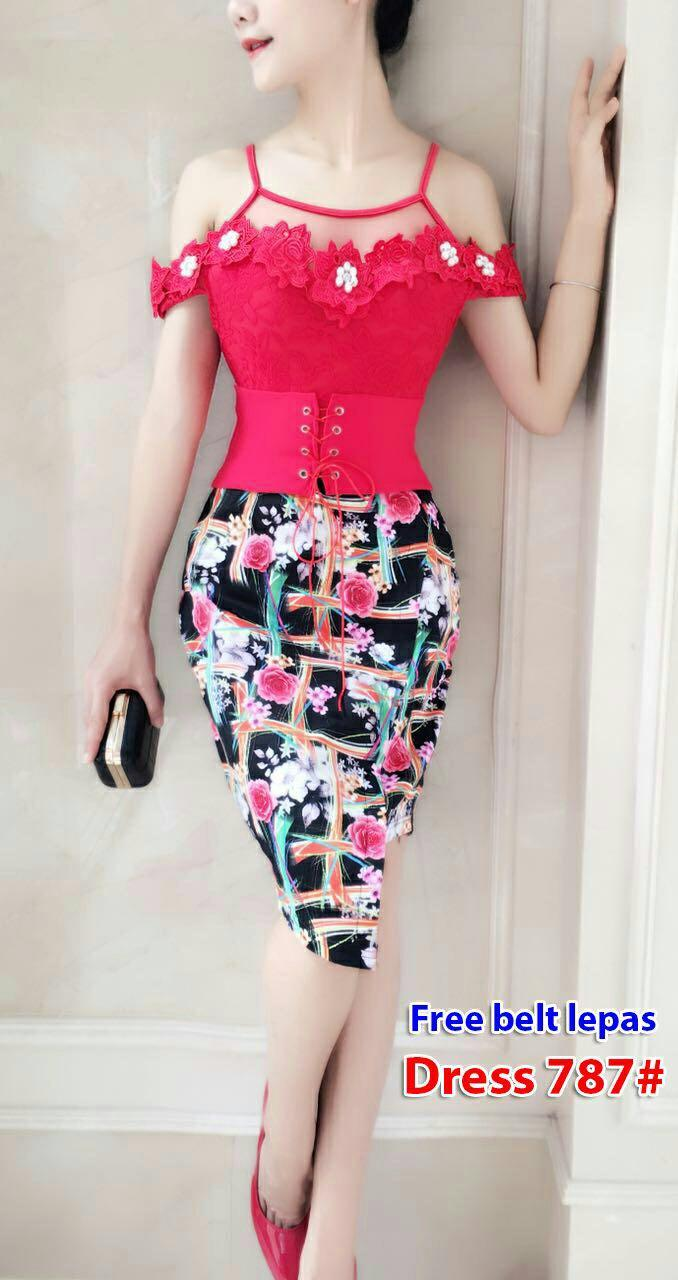 787# baju pesta import / baju seksi / baju pesta selutut / baju sabrina/ dress fashion import