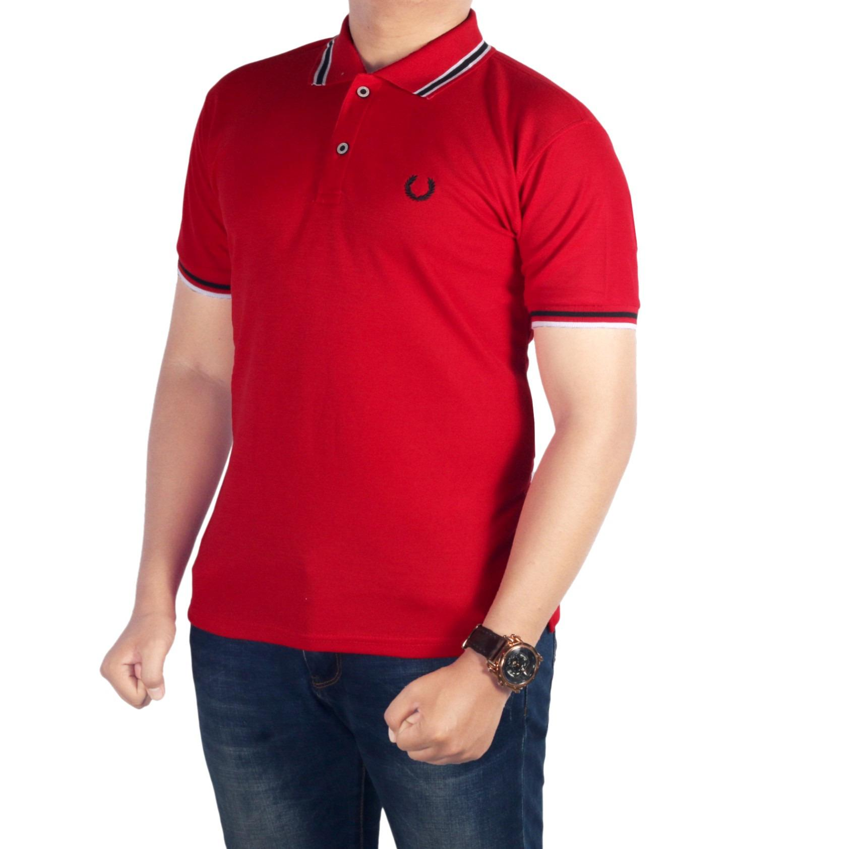 bsg_fashion1 Kaos Polo Kerah Pria Merah/Polo Shirt Kerah Sanghai Pantai/Kaos Polo/kaos t-shirt/kaos distro/t-shirt o-Neck/kaos polos/t-shirt raglan/kaos lengan pendek/kaos oblong/kaos pria SP 4548