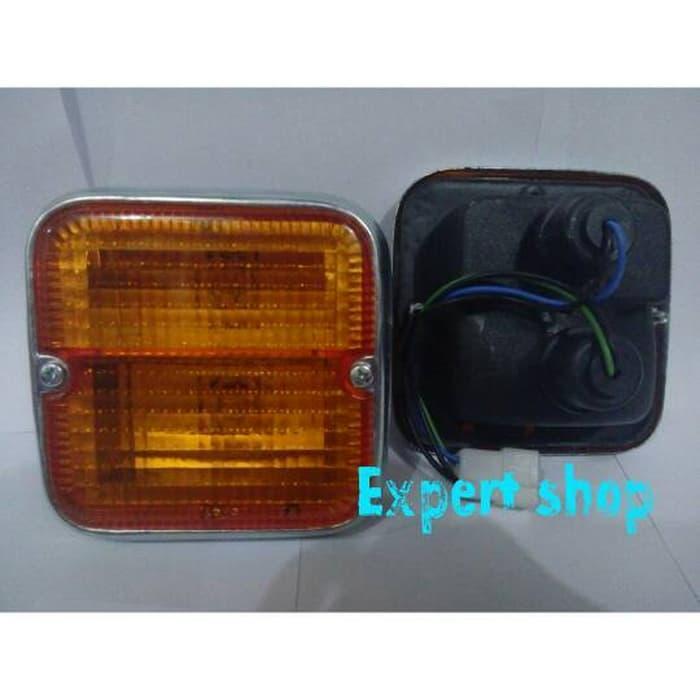 signal lamp f50 per set   ( lampu  mobil hid plafon depan rem sorot led h4 kabut fog lamp tembak variasi strobo rem toyota innova hid avanza osram )