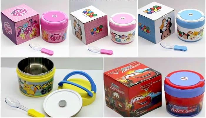 Tempat Bubur Sup Tsum Pony Cars Pokemon - ready stock