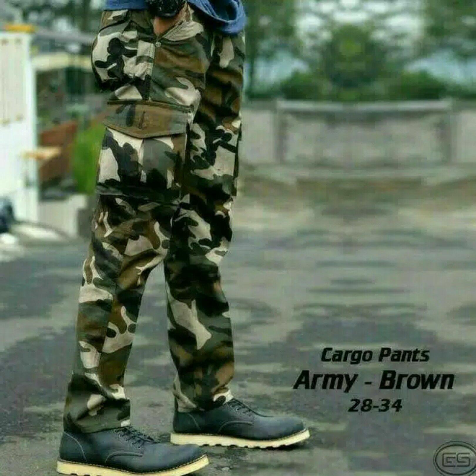 Celana tentara cargo pdl loreng army pemium