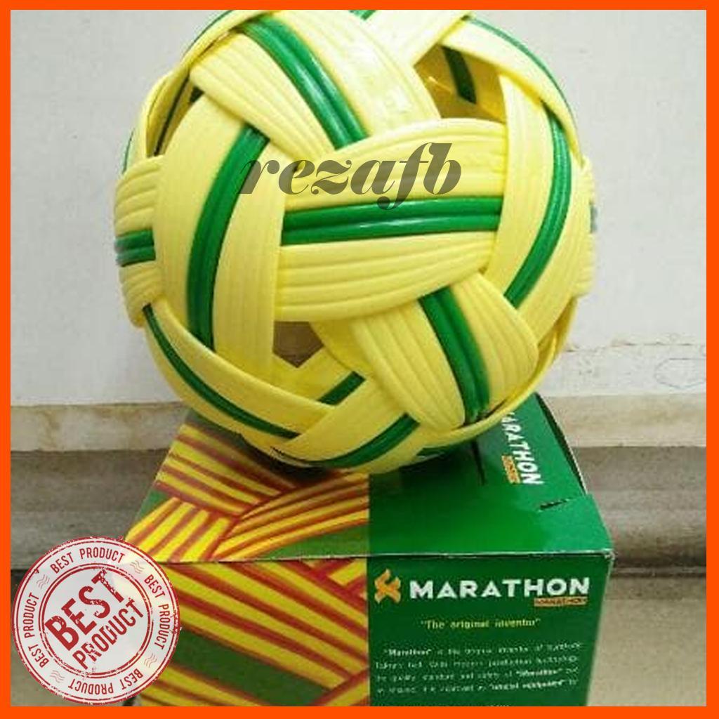 Harga Bola Takraw Rotan Rp 25000 Sepak Original Marathon 101 Hijau