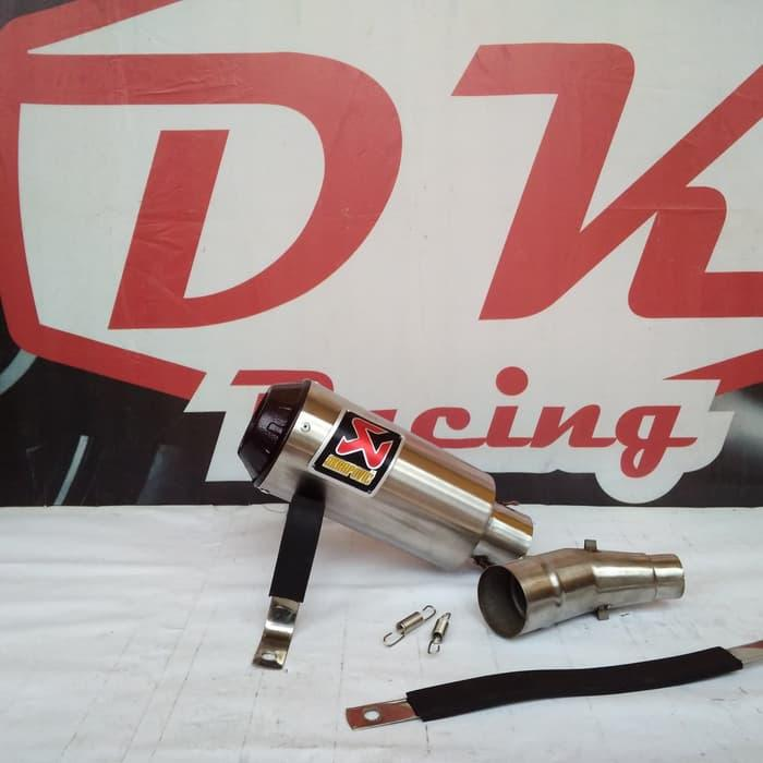 Knalpot Racing Honda Cbr 150 Lokal Slip On Akrapovic Monster Black Series Slip On By Dk Racing Bekasi.