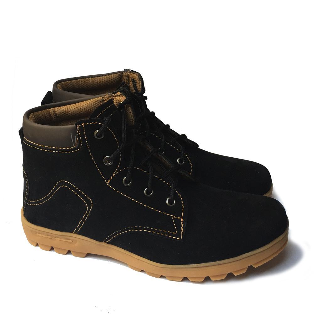 ALBI Sepatu Boots Sepatu Biker Sepatu Touring Formal   Casual - Hitam d1a8dca61d