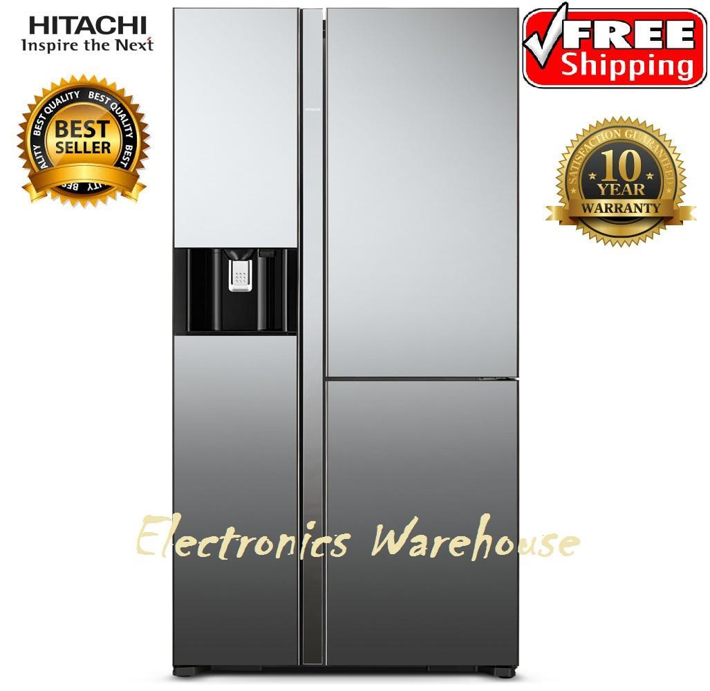 Hitachi Kulkas Made In Japan RM80AGPGD4XM-Mirror Luxury Series Free Ongkir Jabodetabek