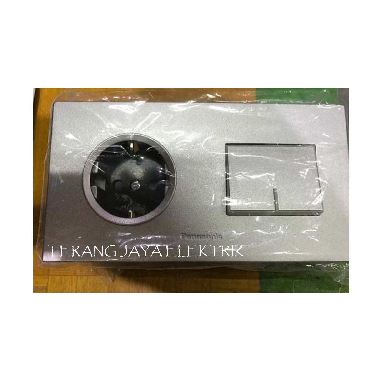 Stop Kontak dan Saklar Engkel Besar WESJ5941MWS dan WESJP11212MWS Panasonic Silver Style E