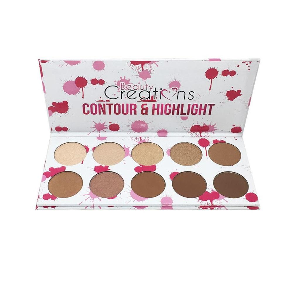 Buy Sell Cheapest Beauty Creations More Best Quality Product Deals Cosmetics 35 Pro Palette Ilena 10 Shade Contour Highlight