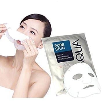 Masker Bio Aqua Pure Skin Acne Mask/Masker Untuk Mencegah Dan Menghilangkan Bekas Jerawat 5 Pcs