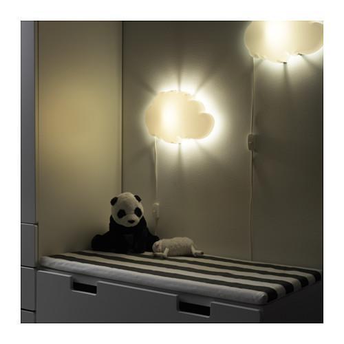 [741] IKEA Lampu Dinding Kamar Tidur Anak Dekorasi Rumah Model Awan Dromhem Wall Lamp