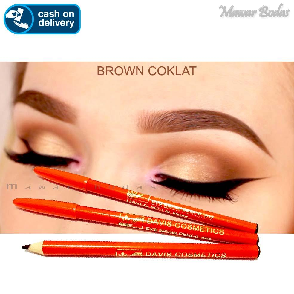 Pensil Alis Davis COKELAT sama kualitas dengan viva - Eyebrow Pencil Alis 1Pcs
