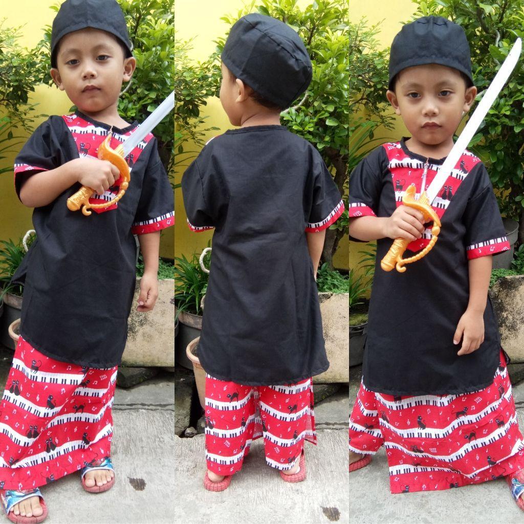 Size L Usia 3-5 Thn An SARKOCI / SARUNG KOKO PECI ANAK / BAJU MUSLIM