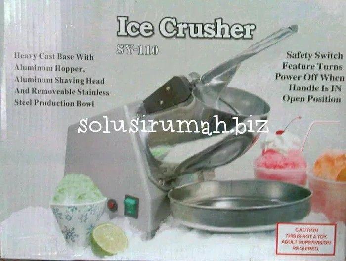 MESIN ICE CRUSHER ES KEPAL MILO SERUT 2 PISAU