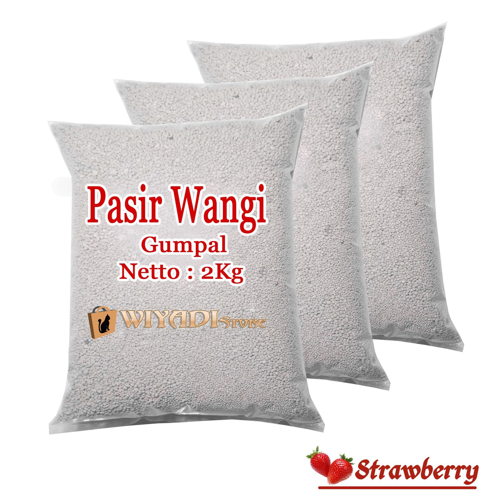 WiyadiStore - Pasir Kucing Wangi dan Gumpal [Repack 2kg] - Strawberry