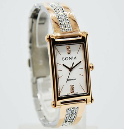 jam tangan wanita bonia original - bonia BNB10429-2677 rose gold