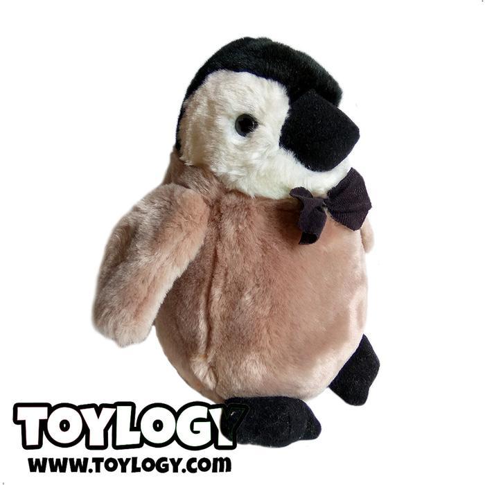Boneka Hewan Burung Pinguin ( Baby Imperial Penguin With Tie) 10 Inch