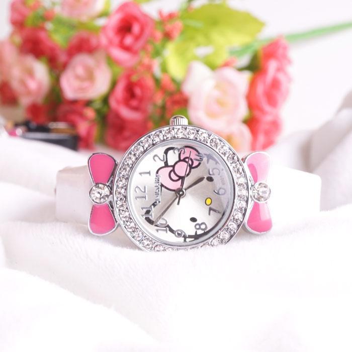 Model baru Gaya Korea Imut Kuarsa jam tangan wanita jam tangan anak-anak anak perempuan