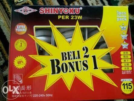 SHINYOKU lampu PER 23w 23 watt shinyoku paket