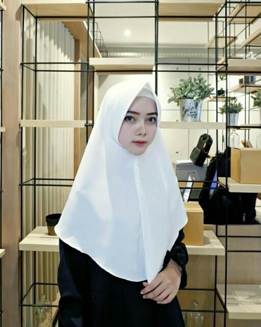 Khimar Pet Jilbab Kerudung Hijab Pet Bergo Syari Wolfis Kualitas Bagus - tukiyem13