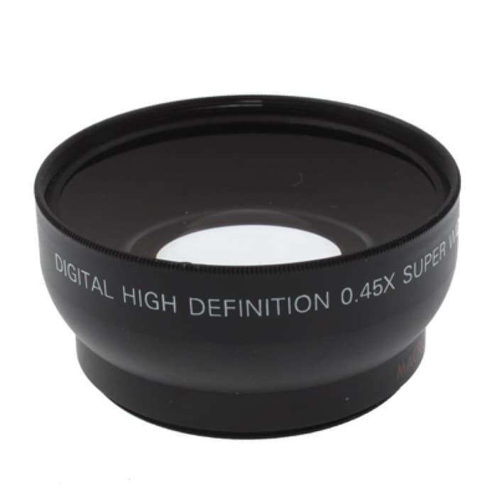 Promo Lensa Wide Angle Lens with Macro 0.45X 52mm for Nikon original