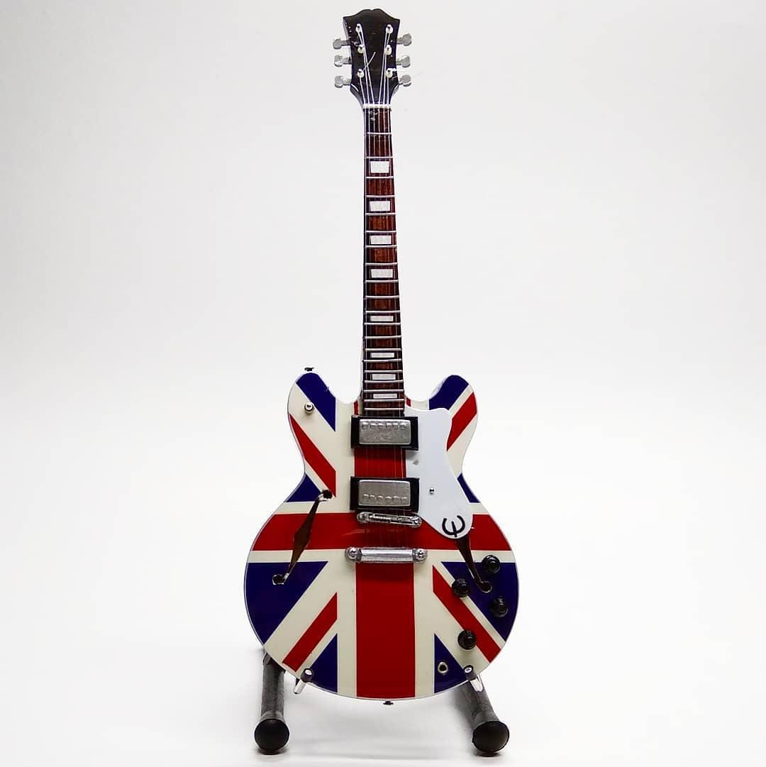 Miniatur Gitar epiphone hollow body uk flag