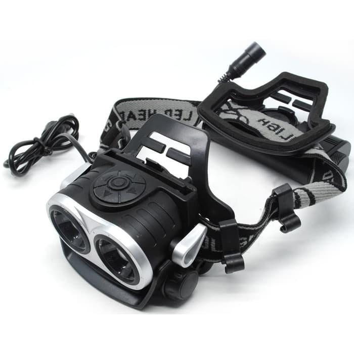Headlamp merk lonefire HP20 Headlamp senter led 2x cree XM-L T6 8000 s