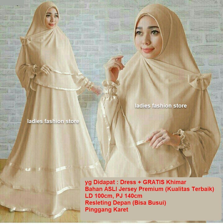 Dress Muslimah BUSUI / Fashion Muslim / Gamis Muslim Syari / Dress Muslim / Gamis Wanita / Baju Muslim / Hijab Muslim / Syar'i Muslim / Maxi Dress Lengan Panjang / Gamis Modern Dress/ Muslimah / Dress Gamis Murah / Pakaian Muslimah 1n (ggunan) COKLATSUSU