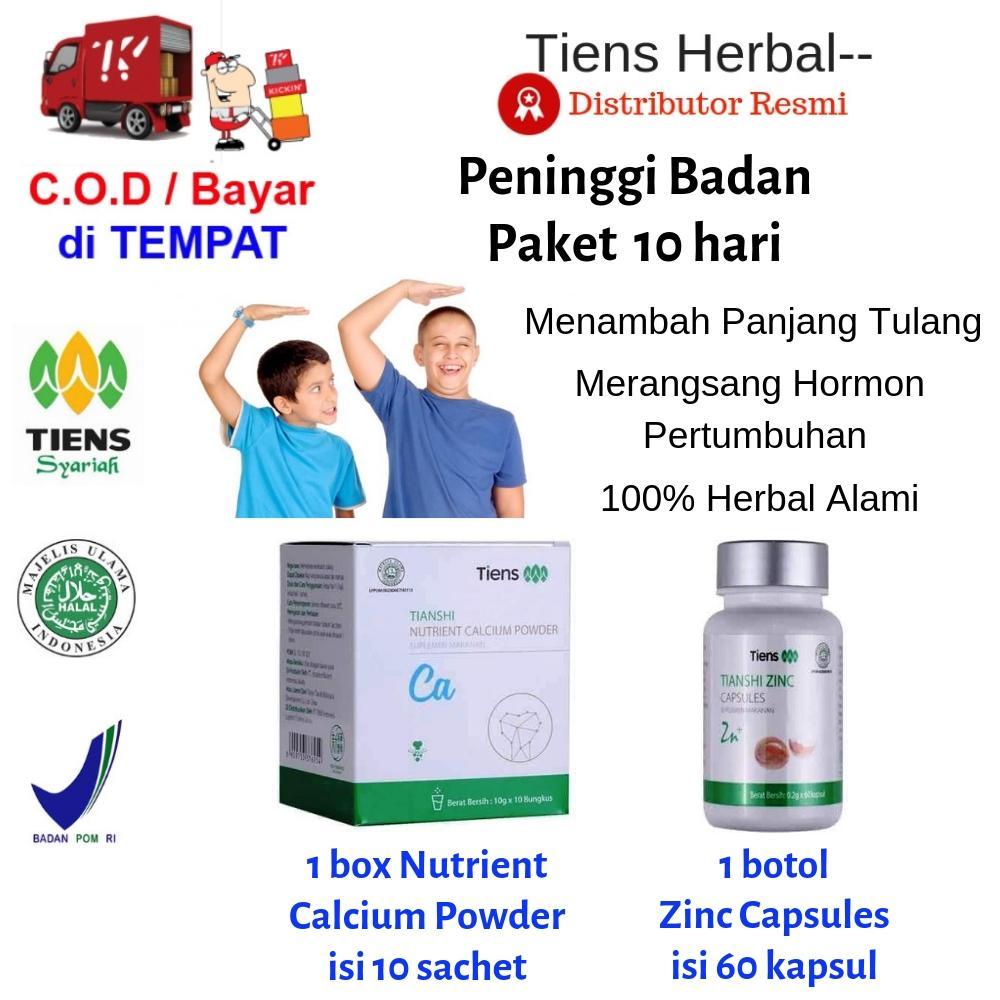 Tiens Herbal-- Peninggi Badan / Paket Promo 1 Calcium, 1 Zinc + FREE Member Card TH--