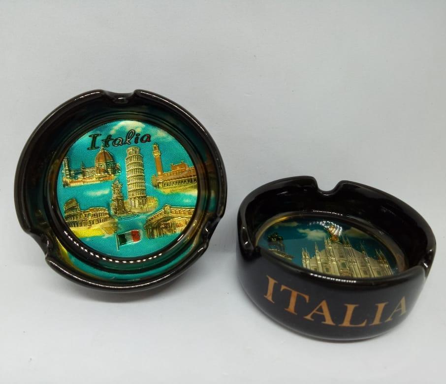 Souvenir asbak keramik oleh oleh Italia cenderamata Italy