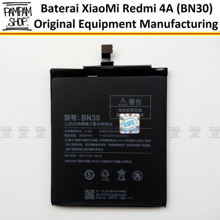 Baterai Handphone XiaoMi Mi Redmi 4A BN30 Original OEM Batre Batrai Battery BN 30 HP Xiao