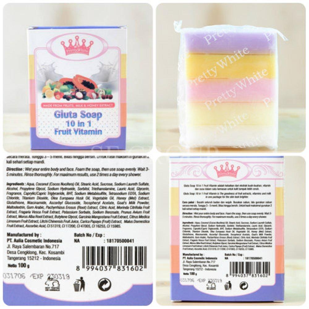 Buy Sell Cheapest Lemon Pretty Snow Best Quality Product Deals Fruitamin Soap Sabun Buah Pelangi Thailand 10 In 1 Original Gluta By White 100 Bpom