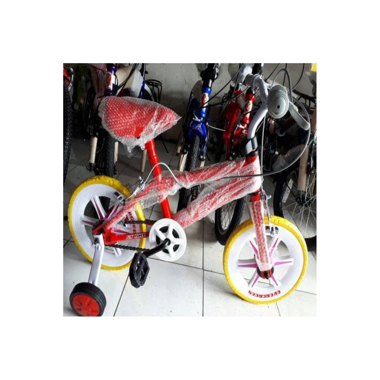 Sepeda 12 Evergreen Ban Busa Tebel Pake Doltrap
