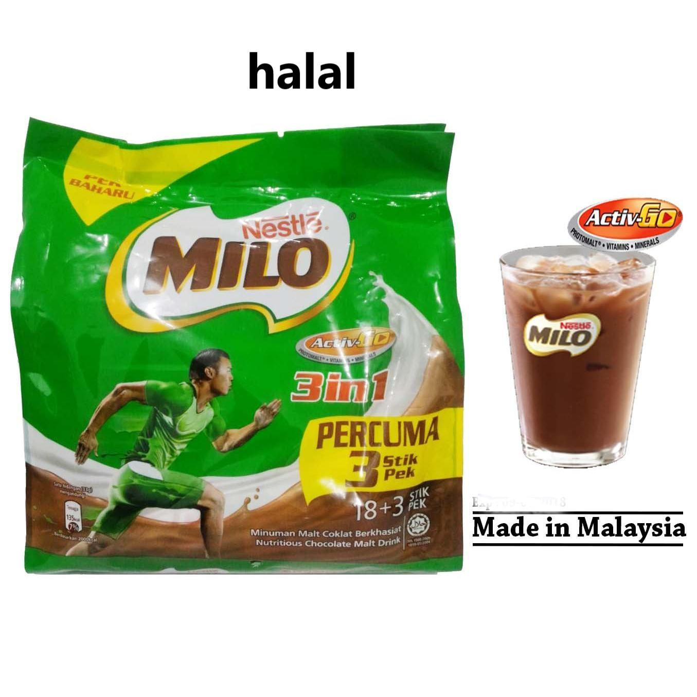 Ngemil Sehat Milo Malaysia 3 In 1 Isi 21 Sachet ( Expired 04/2020) By Ngemil Sehat.