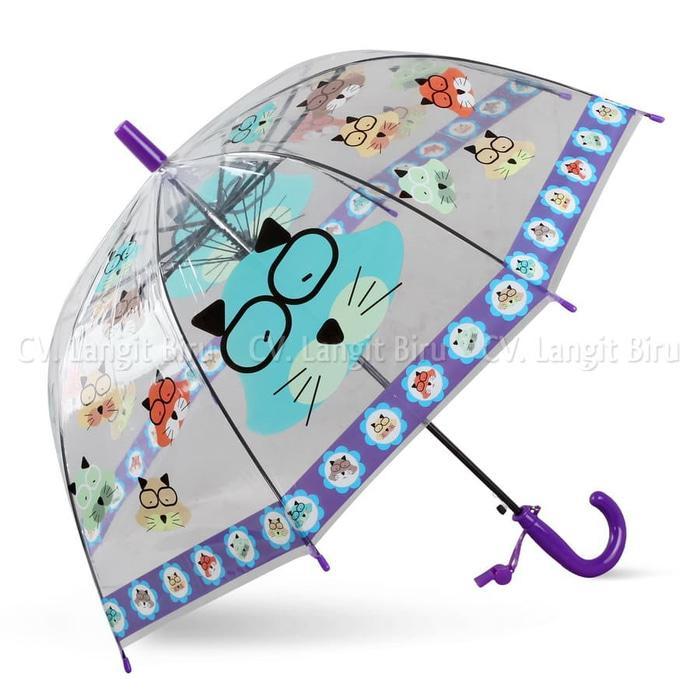 TERBARU Payung Transparan Mangkok SNOWMAN Anak Jepang Korea NEW
