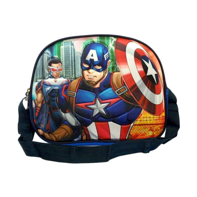 0930050045 | Capt. America Avengers Tas Selempang Foil Lunch Bag Anak - Biru