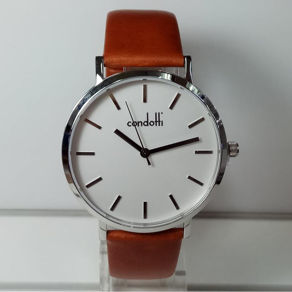 Buy Sell Cheapest Condotti 603091 Best Quality Product Deals Jam Tangan Pria Hitam Putih Leather Strap Cn1009 S01 L03 Cn5067 L25 Educato Silver Brown Watch
