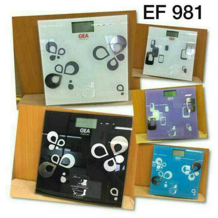SALE - Timbangan Digital GEA EF 981 / Berat badan,Lemak & Hidrasi Original