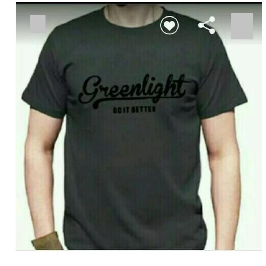 Kaos Pria Tshirt GREENLIGHT GREY