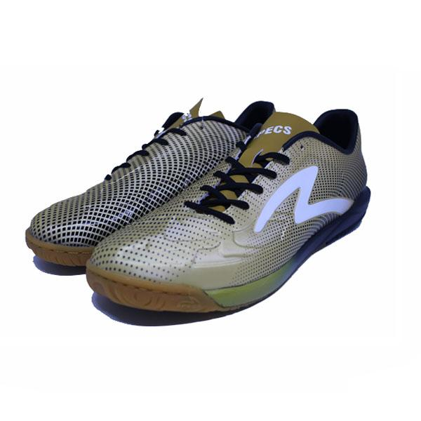 Sepatu Futsal Specs 400753	SWERVO THUNDERBOLT IN - GOLD BLACK WHITE